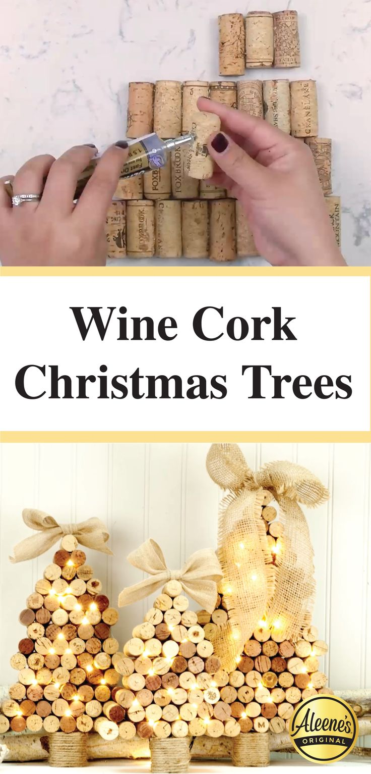 DIY Recycled Wine Cork Christmas Trees!