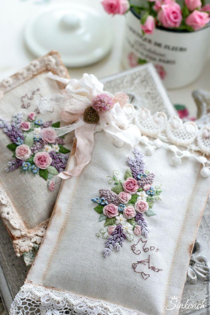 Купить Ароматические саше - саше, ароматный подарок, вышивка, винтажный стиль, подарок девушке