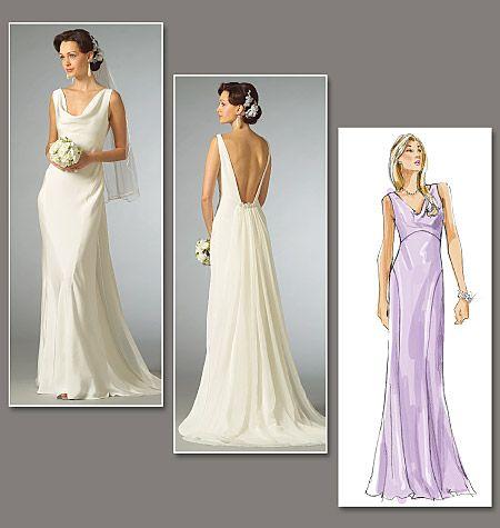 V2965 | Misses' Dress | Bridal | Vogue Patterns