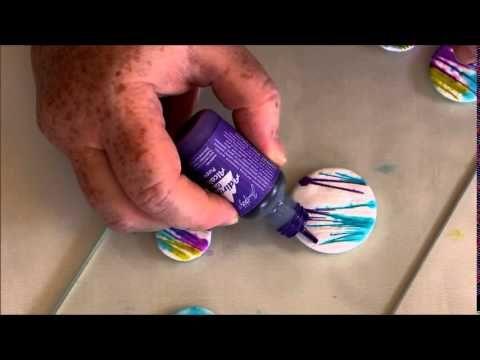 ♡ TUTO ♡Utilisation des encres pinata sur de la pate polymère - YouTube