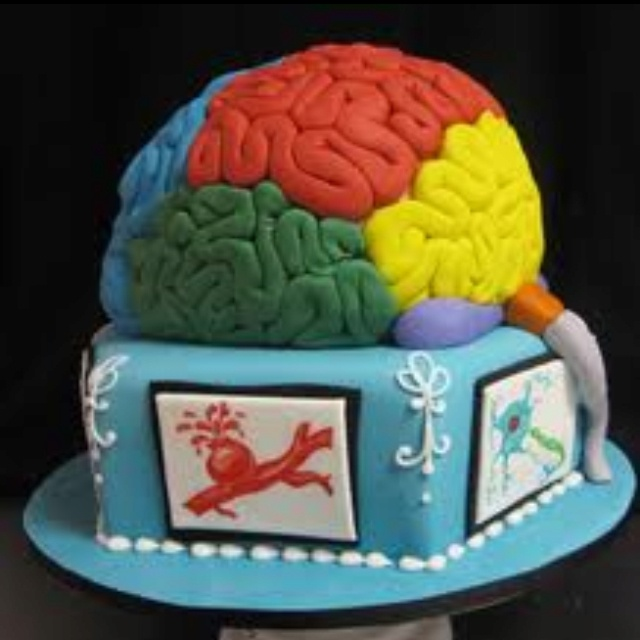 Neuro grad cake =D | birthday cakes | Pinterest