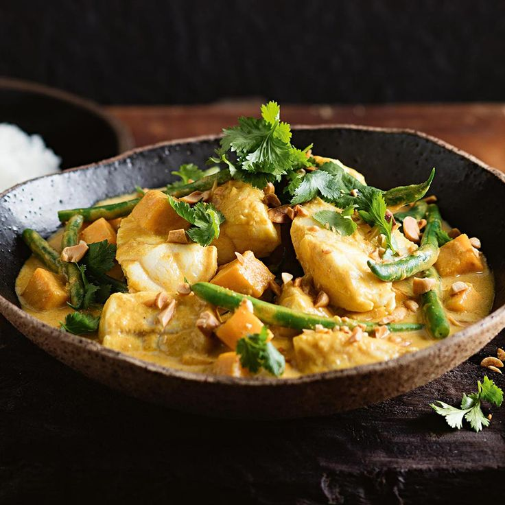 For a creamy curry infused with the exotic flavour of tamarind, try this Fish & Peanut Curry