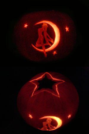 Sailor Moon pumpkin
