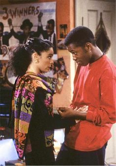 Jasmine Guy as Whitley Gilbert & Kadeem Hardison as Dwayne Wayne - A Different World