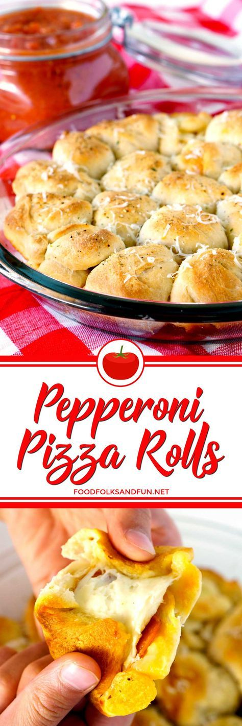 These Pizza Rolls are perfect little appetizers for game day or anytime! They're super easy to make, too! You can make these pizza bites in just 30 minutes!