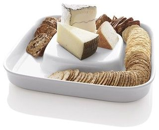 Cheese and cracker server.