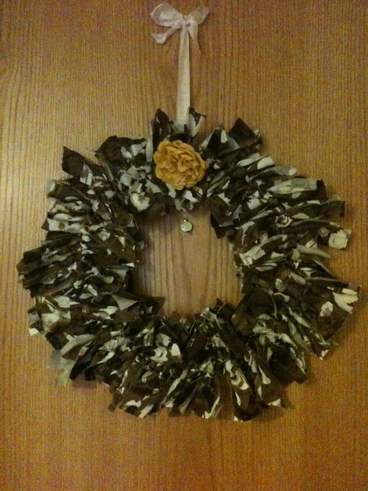 Fabric Xmas wreath