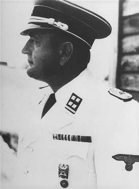 SS Lieutenant Colonel Arthur Rödl, commandant of the Gross-Rosen concentration camp. Gross-Rosen, Germany, between May 1, 1941, and September 15, 1942.