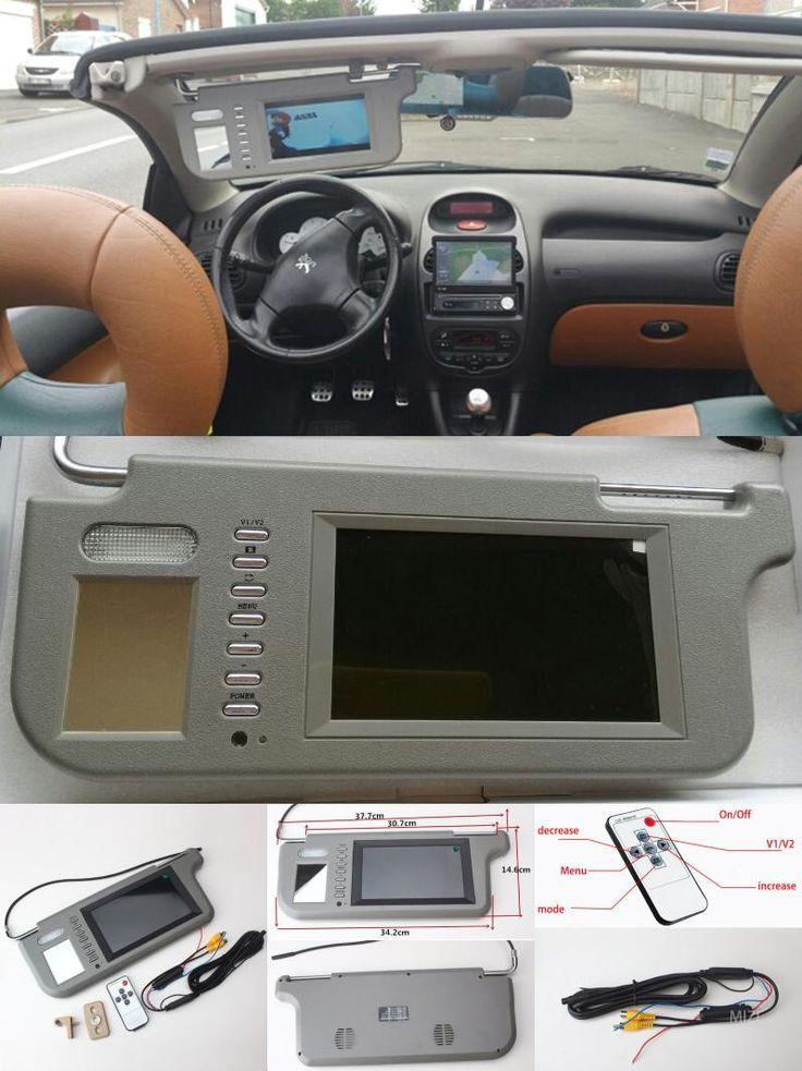 "[Visit to Buy] Left or Right 7"" AU new panel /480(W) X 234(H)XRGB PAL/NTSC/ 2 video signal inputs /OSD menu control  Car Sun Visor Monitor #Advertisement"