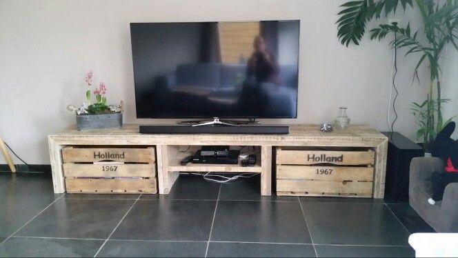 Tv meubel op maat - steigerhout