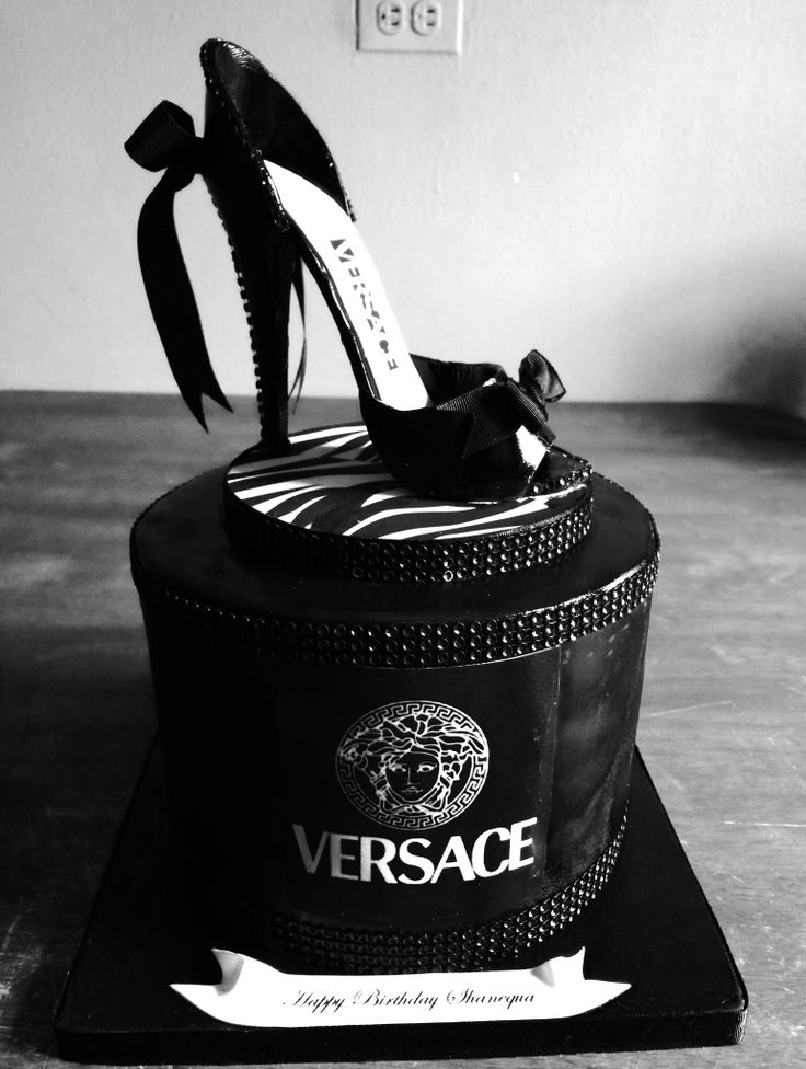 Versace Hat Box Cake With Shoe Versace Hat Box And Shoe