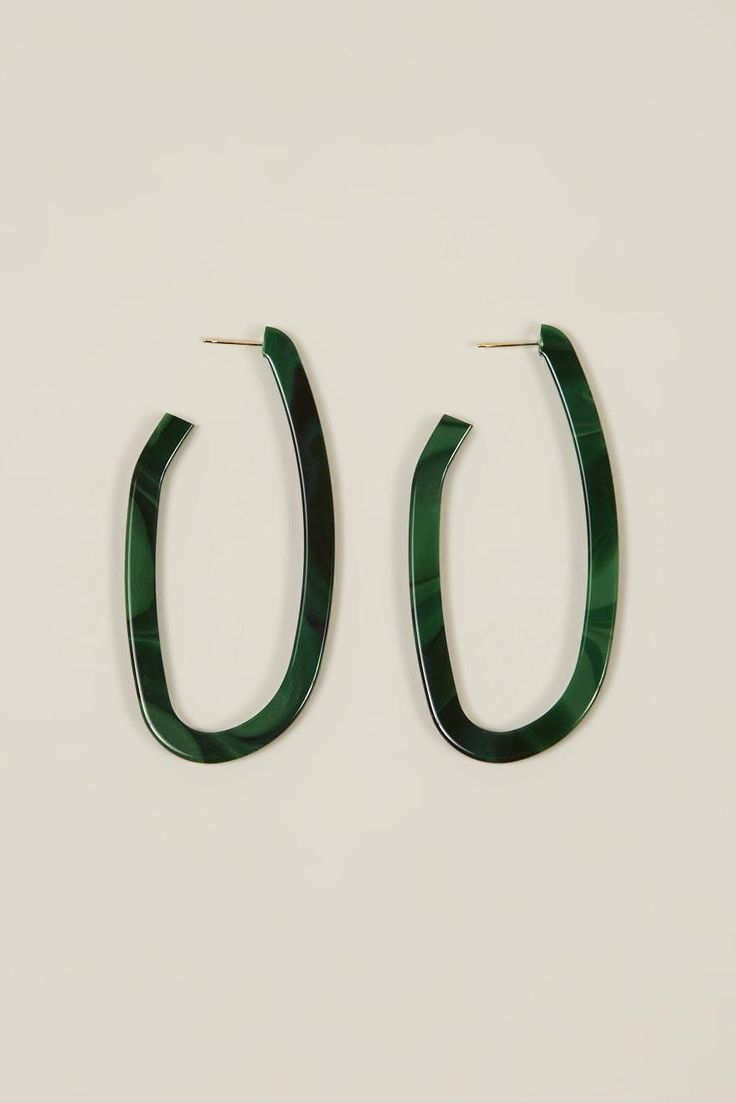 Maya crooked hoop earrings by Rachel Comey