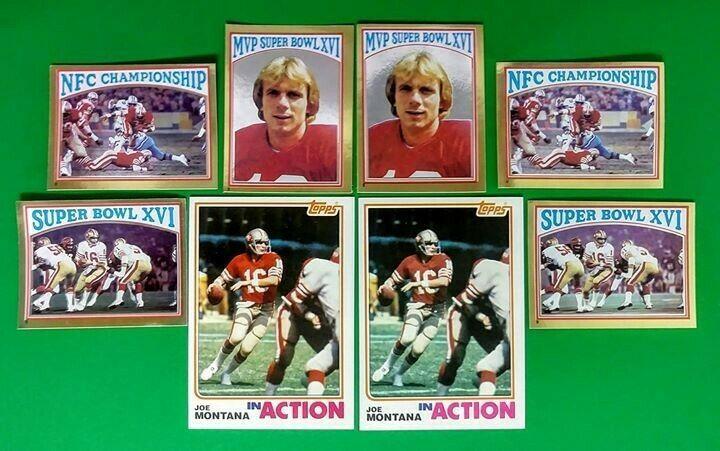 8 1982 topps joe montana football cards san francisco