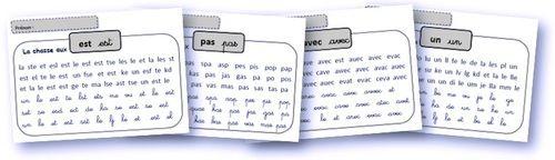 Pour que les élèves puissent s'entrainer de manière autonome à lire les mots outils, voici 41 fiches très simples de discrimination visuelle des mots outils :   Voici le fichier entier (4 fiches p