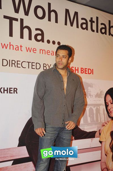 Salman Khan at Rakesh Bedi's Hindi stage play 'Mera Woh Matlab Nahi Tha' in Mumbai