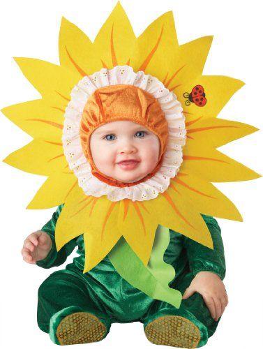 Unisex-baby Newborn Sunflower Costume, Green/Yellow, Small (6-12 Months)