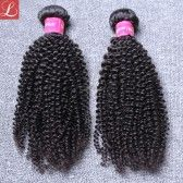 Best Human Hair Extensions For Cheap 2 Pieces Brazilian Hair Afro Kinky Curly Weave Hair Bundles