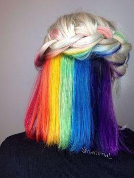 Все цвета радуги уютно спрятались под шикарным блондом🙃 - Елена Сергиенко - Google+
