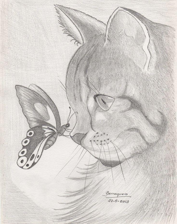 Dibujos Alessi, Dibujos Chidos, Dibujos Gatos, Dibujos Paso, Dibujos Faciles Paso A Paso, Dibujos A Lapiz Faciles, Gato Dibujo, Del Dibujo, Arte Con