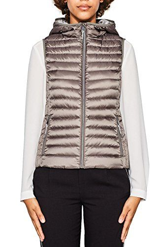 ESPRIT Damen Outdoor Weste 077EE1H001 Grau (Grey 030) Small.  apparel   outerwear 757ea58a1c