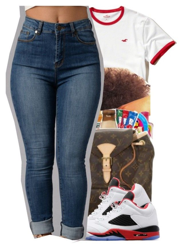 """""""5:44"""" by liveitup-167 ❤ liked on Polyvore featuring Hollister Co. and Jordan Brand"""