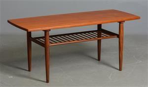 För långt! 125 cm Vara: 4206539Sofabord af teak med underliggende tremmehylde