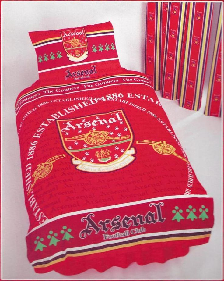 Arsenal AFC Gunners - Old Crest Vintage Retro Design Single Bed Quilt Duvet Set in Home, Furniture & DIY, Bedding, Other Bedding | eBay #HarvardMills #LordOfTheLinens #merchandise #sport #support #Arsenal #ArsenalFootballClub #AFC #football