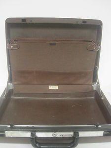 Vintage Samsonite SIGNAT Hard Case Brown Luggage Suitcase