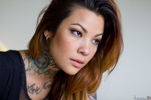 model Jenna, photograph : Dwam (source : http://www.flickr.com/photos/dwam/8657204379/) outtake from the Inked Girls Magazine's shooting