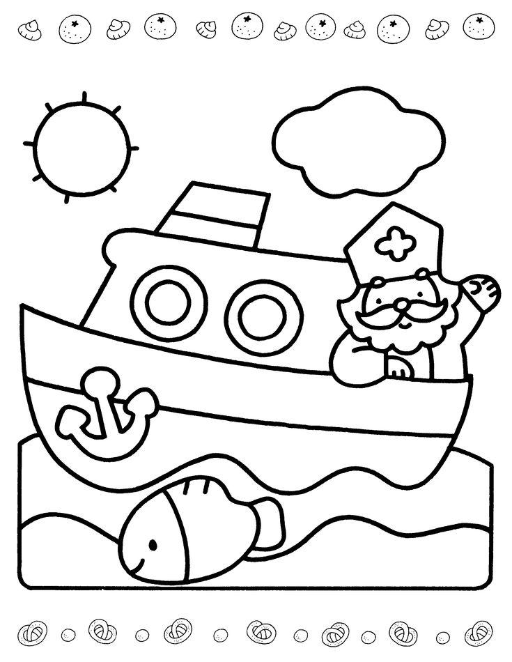 Kleurplaat Sinterklaas Pompom Idee 235 N Over Kleurpagina S