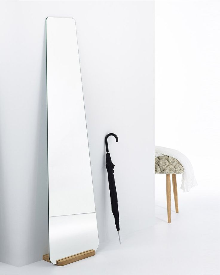 Elisabeth - Modern Full Length Mirror with Wooden Stand H:170cm