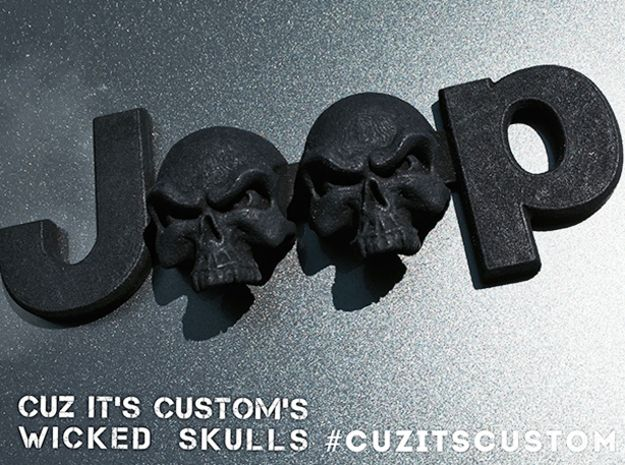 Wicked Skulls Emblem for Jeeps (JK-OEM) by 254MM
