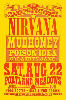 Sell one like this Nirvana & Mudhoney @ Portland Concert Poster 1992