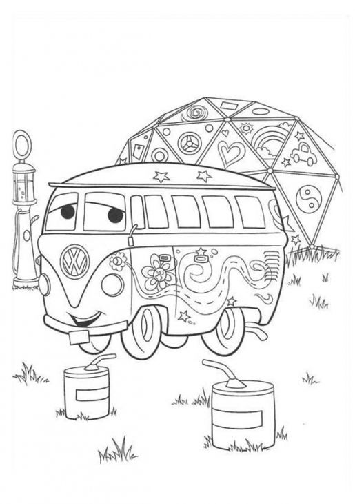 Disney Cars Fillmore Printable Coloring Page For Kids