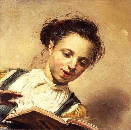 A girl singing, Frans Hals