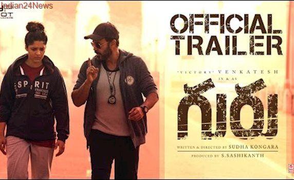 Guru Telugu Movie Trailer (2K HD)   Venkatesh   Ritika Singh   Mumtaz Sorcar   Sudha   #GuruTrailer