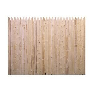 Barrette, 6 ft. x 8 ft. Spruce Pine Fir Flat Top Stockade Fence Panel, 73000470 at The Home Depot - Mobile