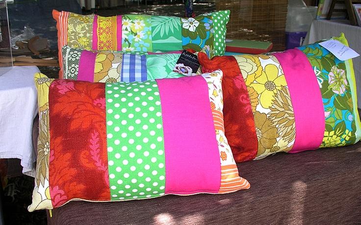 Super-colourful cushions by Littlelom - at the Port Douglas Market    http://www.facebook.com/portdouglasmarket