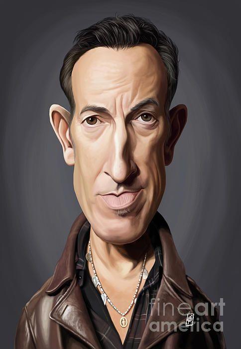 Bruce Springsteen (the Boss) art | decor | wall art | inspiration | caricature | home decor | idea | humor | gifts