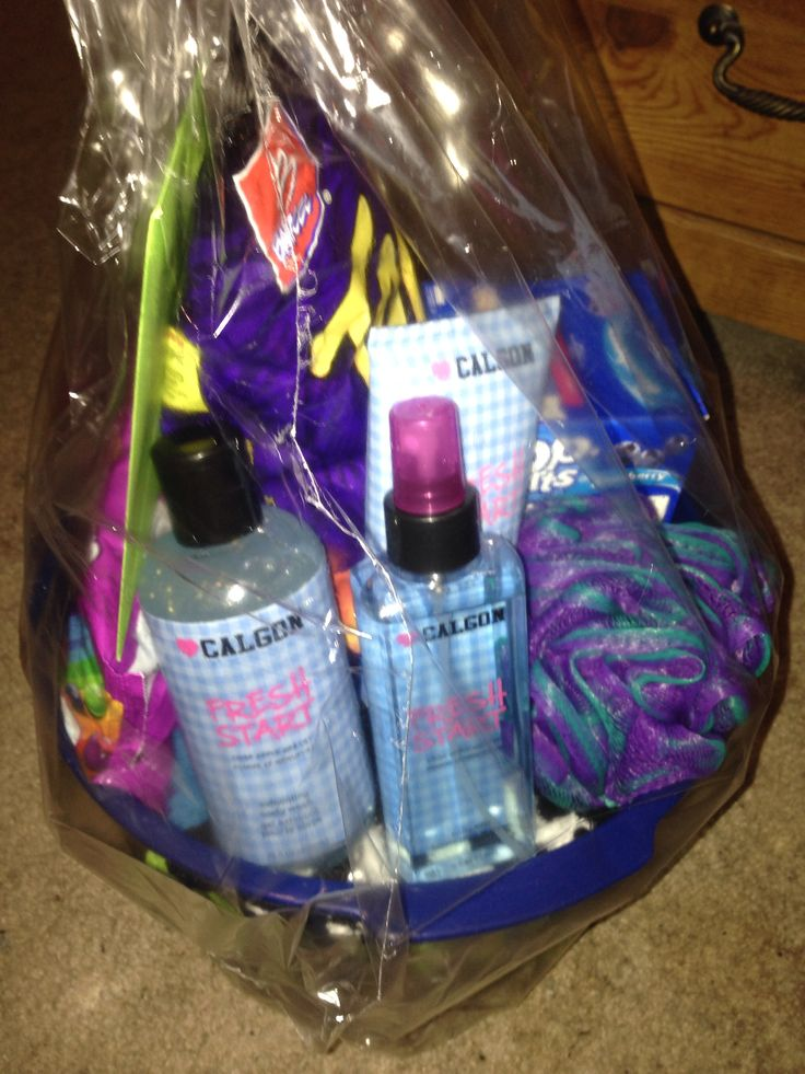 Gift basket for teen join. happens