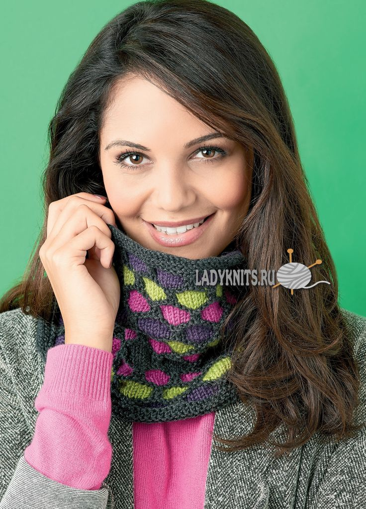 37 best Вязаные шарфы, снуды для женщин images on ...