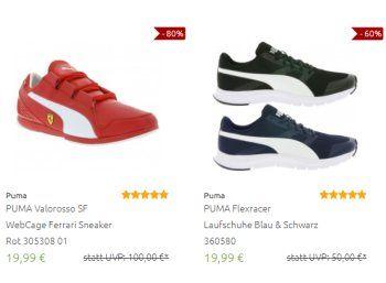 Puma: Sale bei Outlet46 mit Artikeln ab 4,99 Euro frei Haus https://www.discountfan.de/artikel/klamotten_&_schuhe/puma-sale-bei-outlet46-mit-artikeln-ab-499-euro-frei-haus.php Für wenige Tage sind bei Outlet46 knapp 100 Puma-Artikel zu Schnäppchenpreisen zu haben. Neben Socken und Schuhen sind auch Shirts, Hosen und Pullis im Angebot. Puma: Sale bei Outlet46 mit Artikeln ab 4,99 Euro frei Haus (Bild: Outlet46.de) Die Puma-Artikel zu Schnäppchenpreisen sind ab sofort...