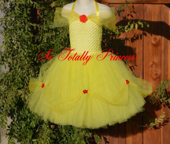 Belle inspired tutu dress/Beauty and the Beast/Princess tutu dress/girl tutu dress/baby girl tutu dress/Halloween tutu/costume/photo prop on Etsy, $25.00