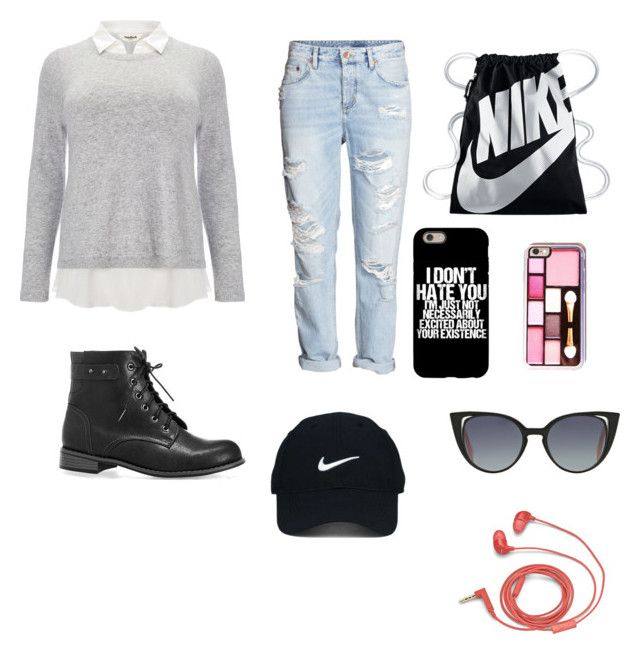 """""""Oblečení do školy"""" by jana-zy on Polyvore featuring Avenue, Studio 8, H&M, NIKE, Nike Golf, Fendi and FOSSIL"""