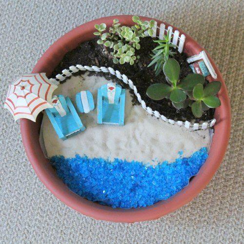 Make your own beach fairy garden