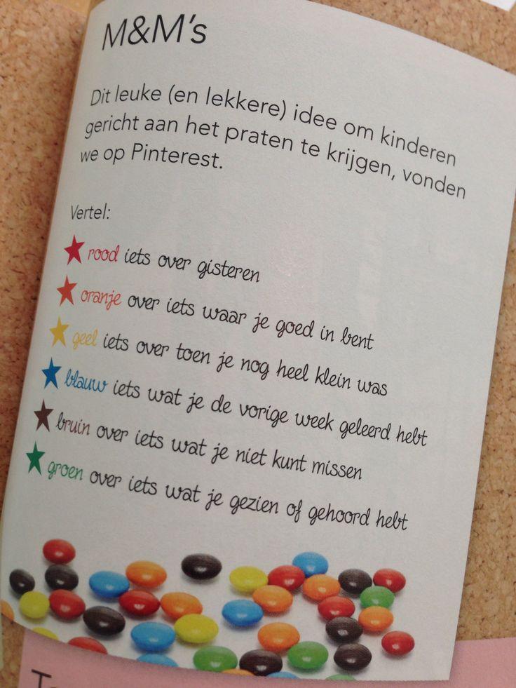 Leuke tip om kinderen gericht aan het praten krijgen. Kan ook met gekleurde ijsstokjes, balletjes ...