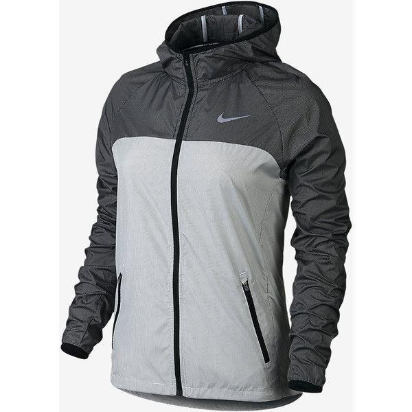 Nike Women's Running Jacket. Nike.com AU ($110) ❤ liked on Polyvore featuring activewear, nike, nike sportswear and nike activewear