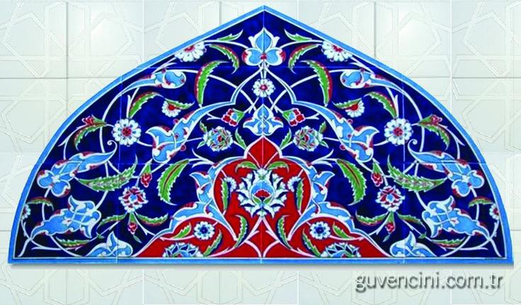 iznik çini 110x75 Pecere üstü pano 01   Turkish Ceramics   Ceramica Turk