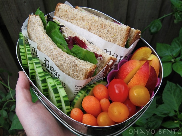 Sandwich and veg selection