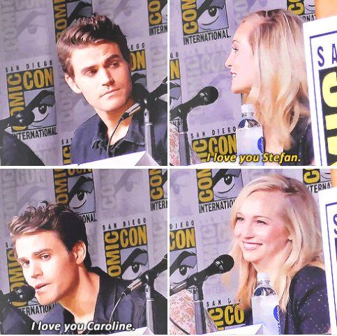 #Tvd cast at SDCC 2016 - Paul and Candice